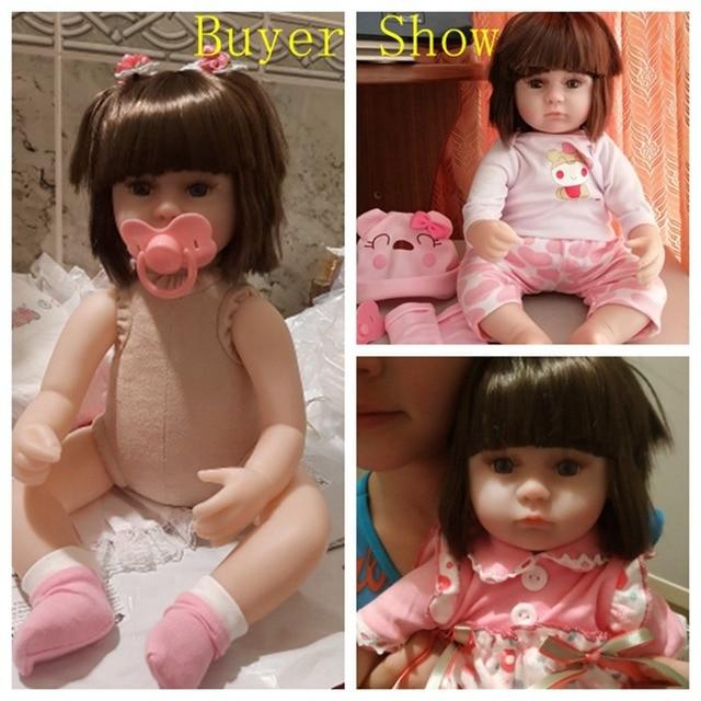 Muñeca bebé Reborn 42CM, muñecas bebé Reborn, juguetes para niñas, muñeca de compañía, bebé realista, ojos azules, bebé Reborn, regalo de cumpleaños