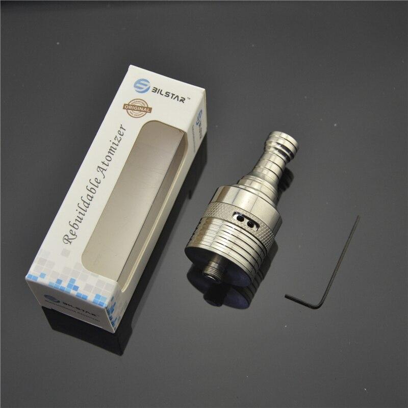 Bilstar Helios RDA 304 Stainless Steel Rebuildable Dripping Atomizer Prebuilt Coil RBA DIY Vaporizer for Vape MOD 510 thread 5