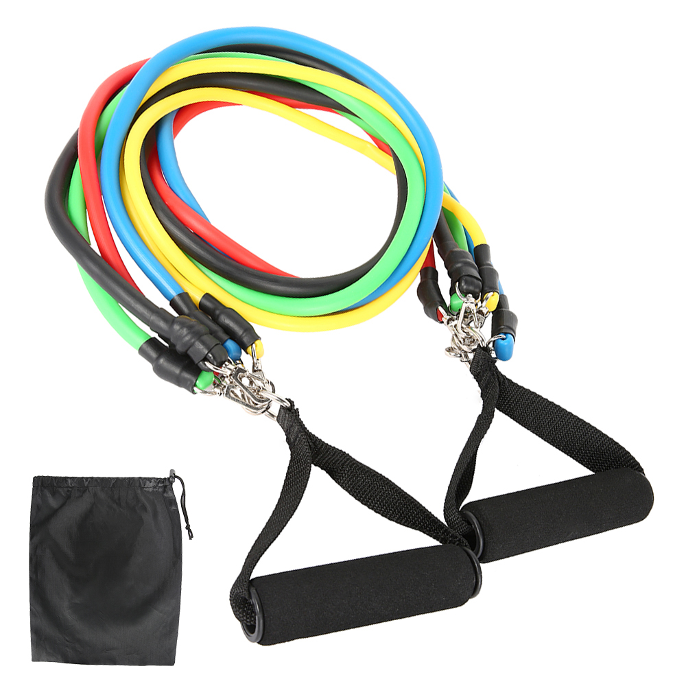 11-13pcs Fitness Resistance Bands 14