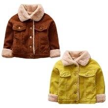 Детские теплые вельветовые пальто; осенне-зимняя куртка для маленьких девочек; пальто для мальчиков; куртка; детская верхняя одежда для девочек; Модная одежда для девочек
