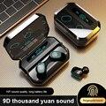 M8/C1 новые TWS беспроводные наушники водонепроницаемые Bluetooth наушники сенсорное управление 9D стерео беспроводные наушники