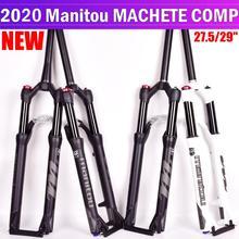 אופניים מזלג Manitou המקצץ Comp מארוול 27.5 29er גודל אוויר מזלגות הרי MTB אופני מזלג השעיה שמן וגז מזלג SR SUNTOUR