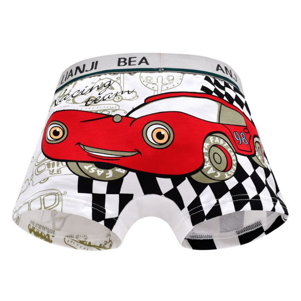 2020 Summer Baby Boy Underpants Children Cotton Cartoon Car Print Pattern Panties Colorful Underwear Boxer Infant Brief Clothes