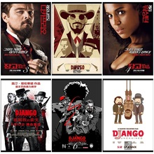 Django Unchained Classic Movie Home Decorative Painting White Kraft Paper Poster 42X30cm
