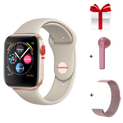 IWO 8 + correa + auricular/Set Smartwatch hombres y mujeres rastreador de ejercicios inteligente Bluetooth Wtach para IOS Android Monitor de frecuencia cardíaca ECG reloj
