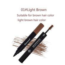 цена на 2 In 1 Portable Size Eyebrow Eyeliner Makeup Curling Pen Long Lasting Women Eye Liner Cosmetic Beauty Pen Makeup Tool