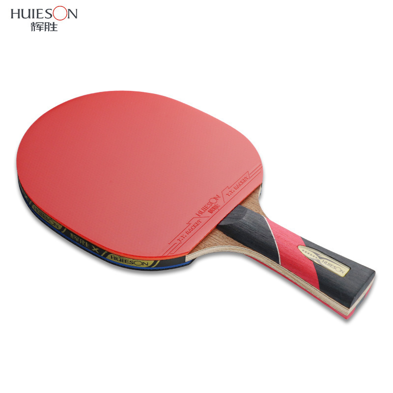Купить с кэшбэком HUIESON 6 Star Table Tennis Racket Wenge Wood & Carbon Fiber Blade  Sticky Pimples-in Rubber Super Powerful Ping Pong Racket Bat