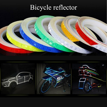 1PC 8 Meter Car Styling Reflective Stripe Tape Motorcycle Bike Body Rim Wheel Stripe Tape Stickers Decorative image