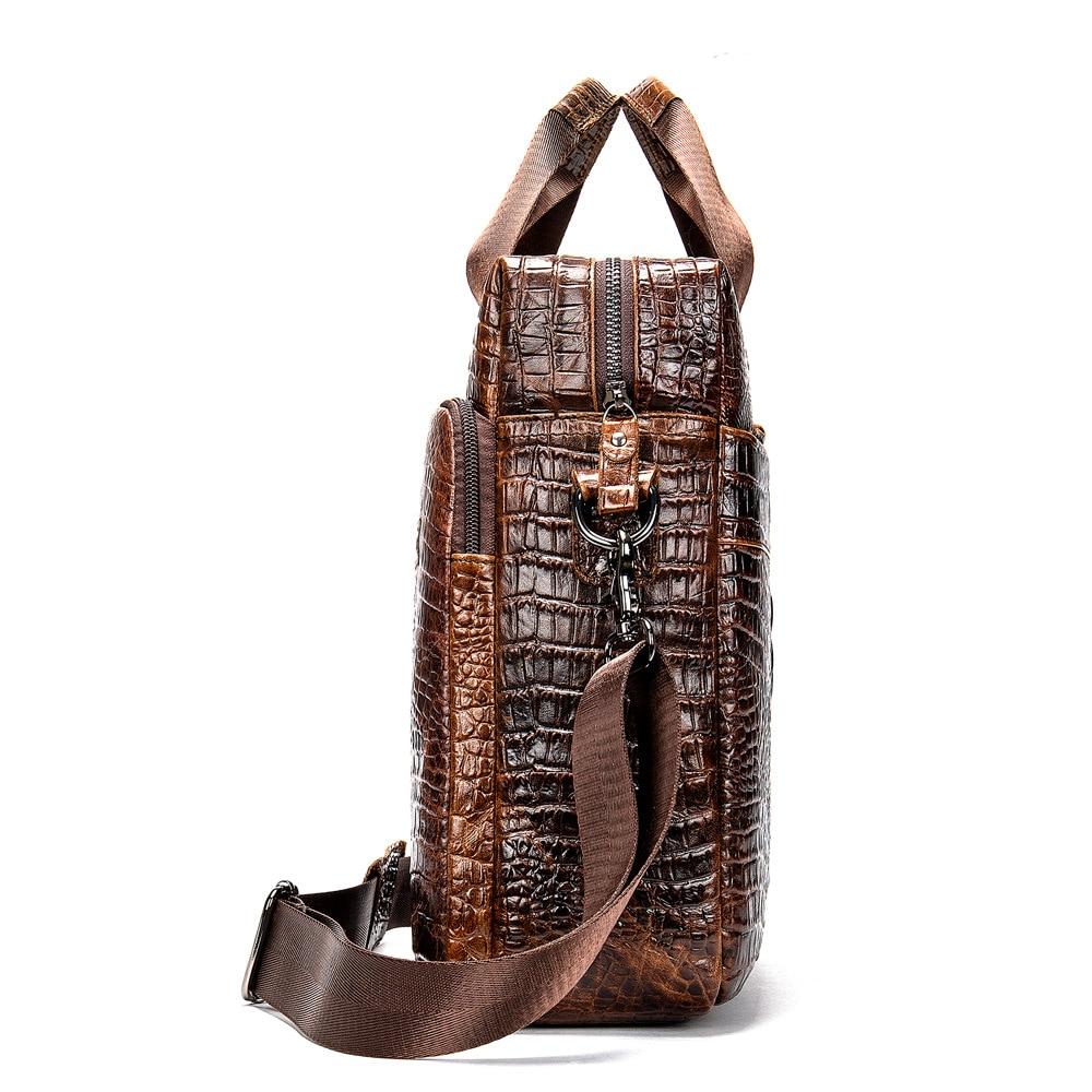 Men 39 s Bag Wallet Shoulder Bag Crocodile Female Retro Boy Designer High Quality in Top Handle Bags from Luggage amp Bags