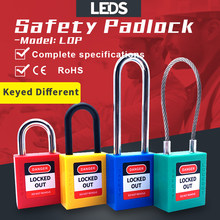安全ロックアウト南京錠インダストリアルエンジニアリングプラスチックabsボディ非導電性エネルギー分離ロトロックキー異なる2キー