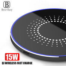 15W Qi Wireless Charger Quick Charge for Huawei Mate 20 Pro Samsung Note 10 Plus Metal Wireless Charging for iPhone X Xs Max 8(China)