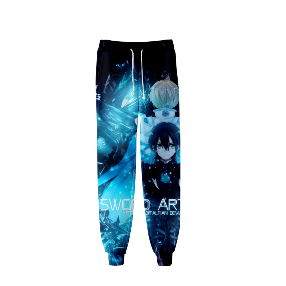 Unisex Anime SAO Sword Art Online Sweat Pants 3D Joggers Pants Trousers Men/Women Clothing Hip Hop Pantalon Homme Sweatpants