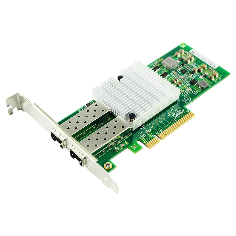 10Gb PCI-E Network Card X520-DA2, Dual SFP+ Ports For Intel 82599ES Chip, Dual SFP+ Port, PCI Express Ethernet Lan Adapter Suppo