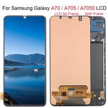 """6.7 """"pour Samsung Galaxy A70 LCD A705 A705F SM A705F écran tactile numériseur assemblée A70 2019 pour Samsung A70 LCD"""