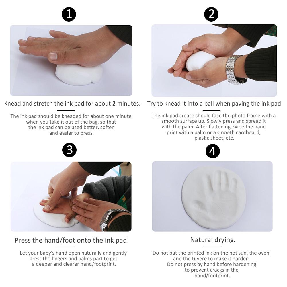 limpa, não-tóxica, três dobras, impressão de mão