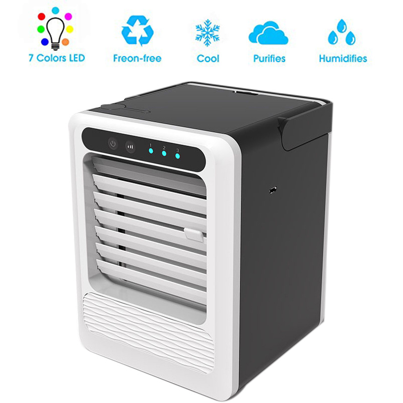 Air Conditioner Fan Mini USB Air Conditioner Mute Silent Personal Space  Cooler Desktop Cooling Fan For Office Home