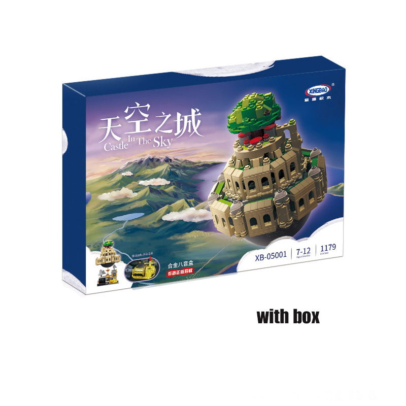 XingBao <font><b>Castle</b></font> City of <font><b>Sky</b></font> Architecture Genuine Creative MOC Building blocks Music Box child Compatible <font><b>legoing</b></font> Technic Toy image