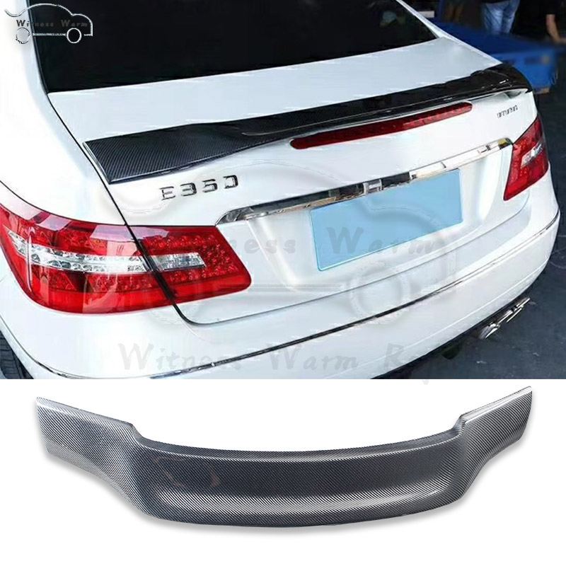W207 C207 Carbon Fiber Rear Wings Trunk Lip Spoiler For <font><b>Mercedes</b></font> E Class <font><b>Coupe</b></font> 2010-2017 E200 E250 <font><b>E300</b></font> image