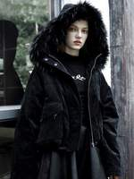 Punk Rave Women's Warm Fluffy Hooded Chamois Jackets Coats PY 439MD