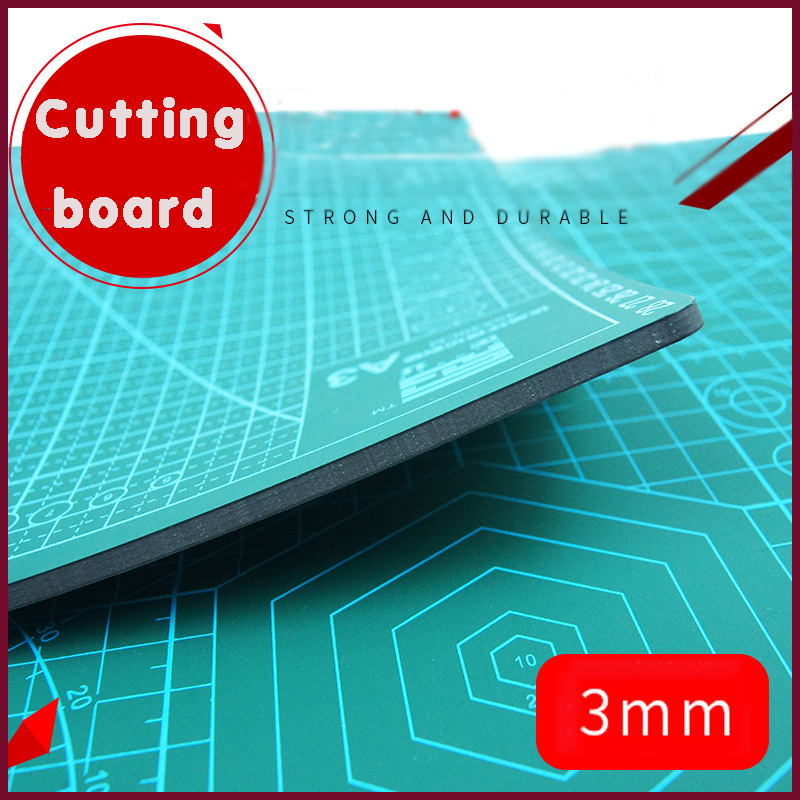 Cutting Board A2 A3 A4 A5 Double-sided Cutting Pad Pvc Folding Manual Scraping Tool Diy Dark Green Engraving Pad Self-healing