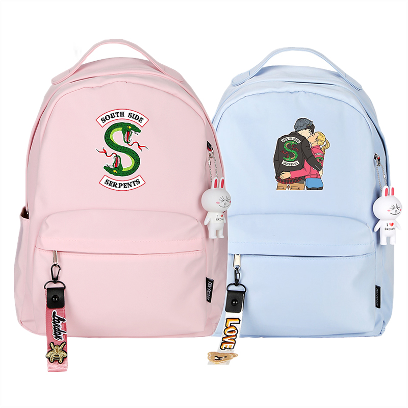 Riverdale Women Pink Backpack Kawaii Travel Backpack Canvas School Bags For Teenage Girls Mochila Feminina Riverdale Back Pack