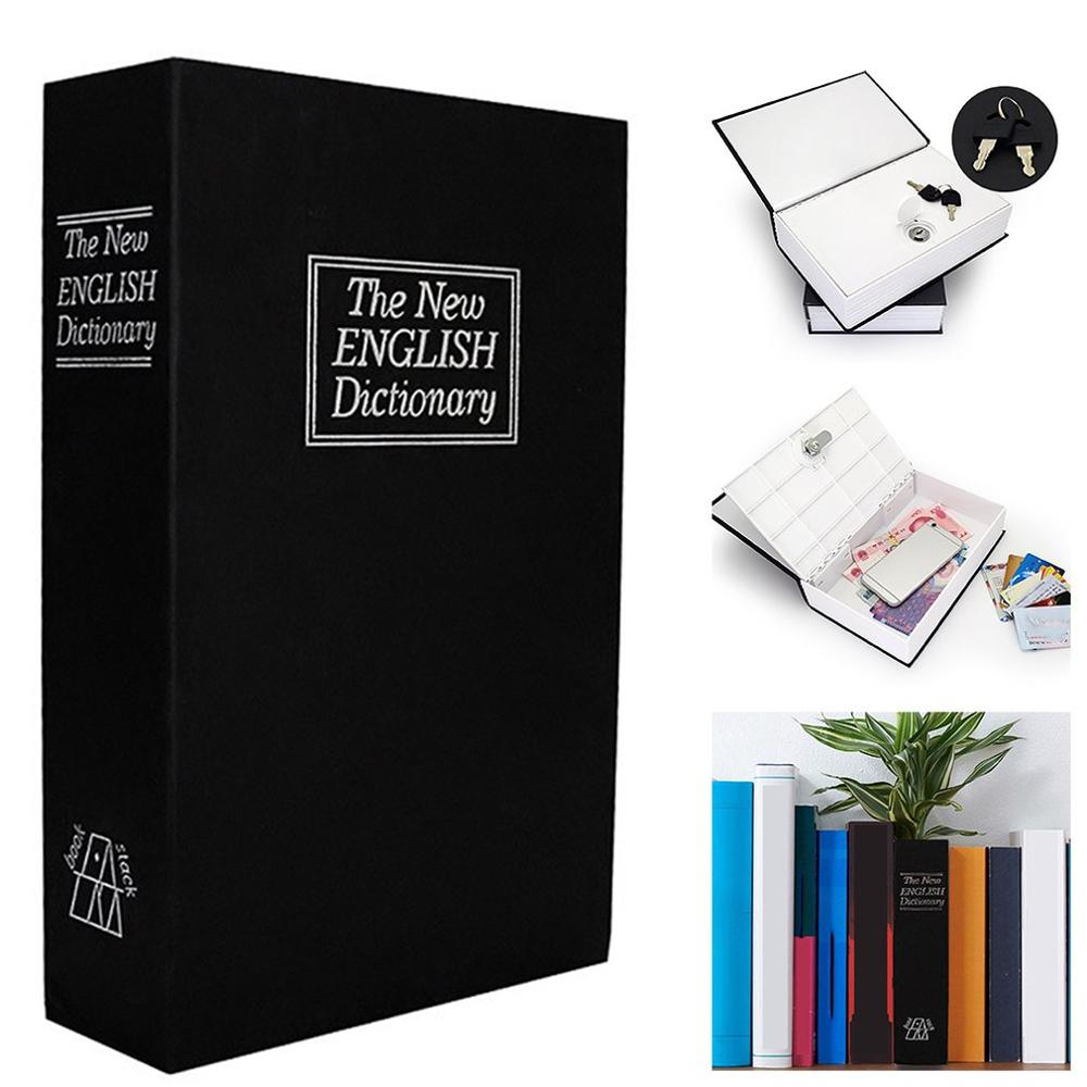 English Dictionary Secret Book Safe Money Hidden Box Coin Piggy Bank With Key Cash Coins Saving Boxes Lock-up Storage Box