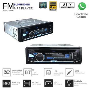 1 DIN CD DVD Audio for Car Bluetooth Hands-free Calling With Remote Control  Detachable Panel Audio Music FM AUX IN USB SD card