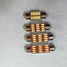 100 шт. 31 мм 36 мм 39 мм 41 мм C5w C10w Canbus без ошибок автомобильный фестонный Smd 4014 светодиодный интерьер автомобильного салона лампа для чтения белый DC12V