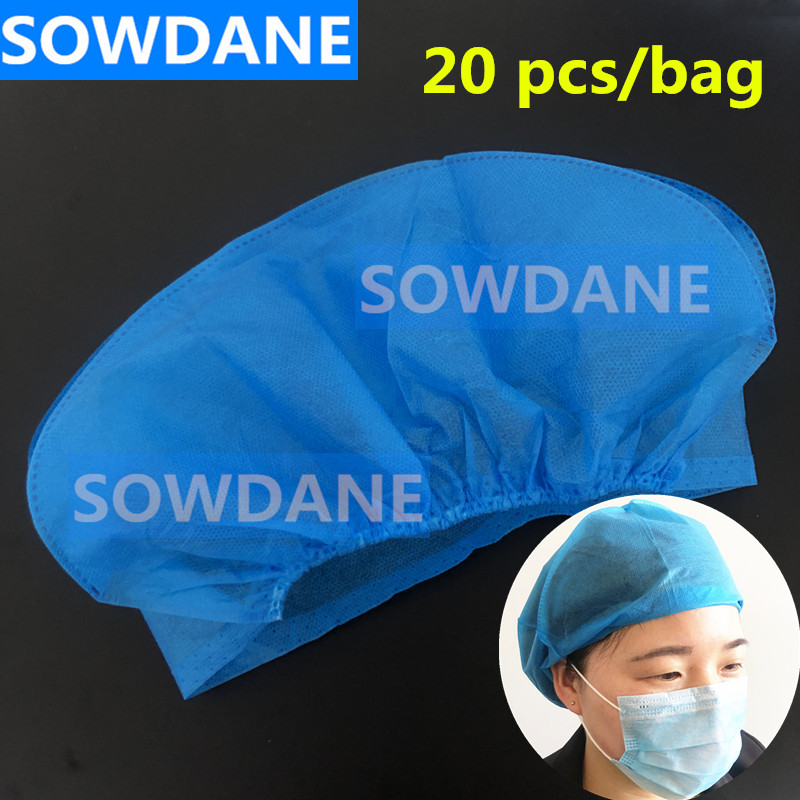 Disposable Dental Non Woven Dust Caps Hats Medical Sterile Dry Hair CapDentist Cap Dental Hat