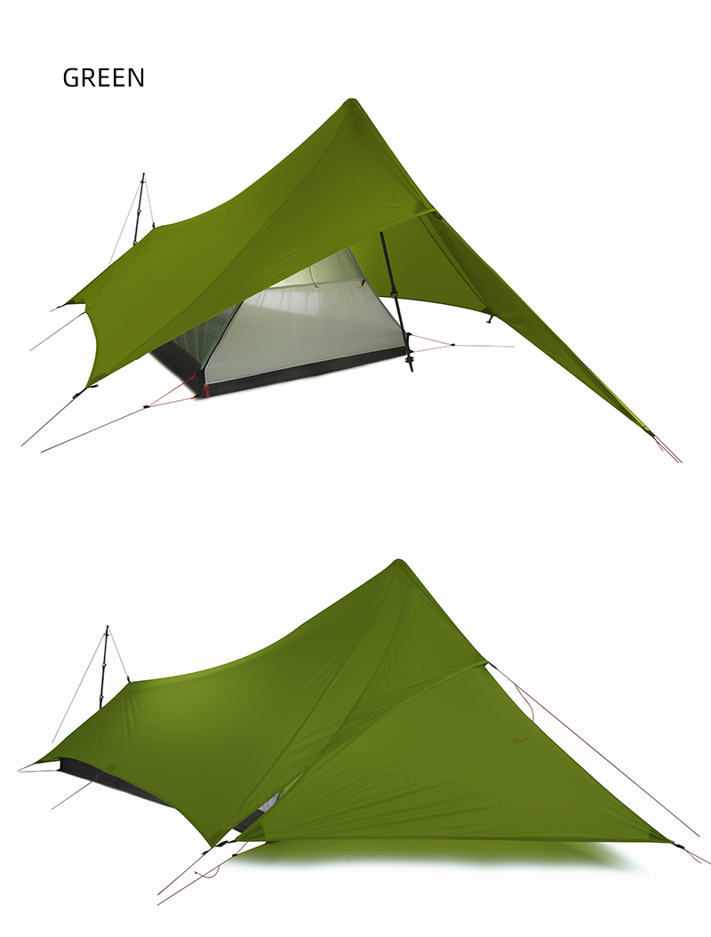 FLAME'S CREED XUNSHANG Ultralight Camping Tent 20D Nylon Both Sides Silicon shelter tarp 1 Person 3 Season  Rain Fly Tent Tarp 5