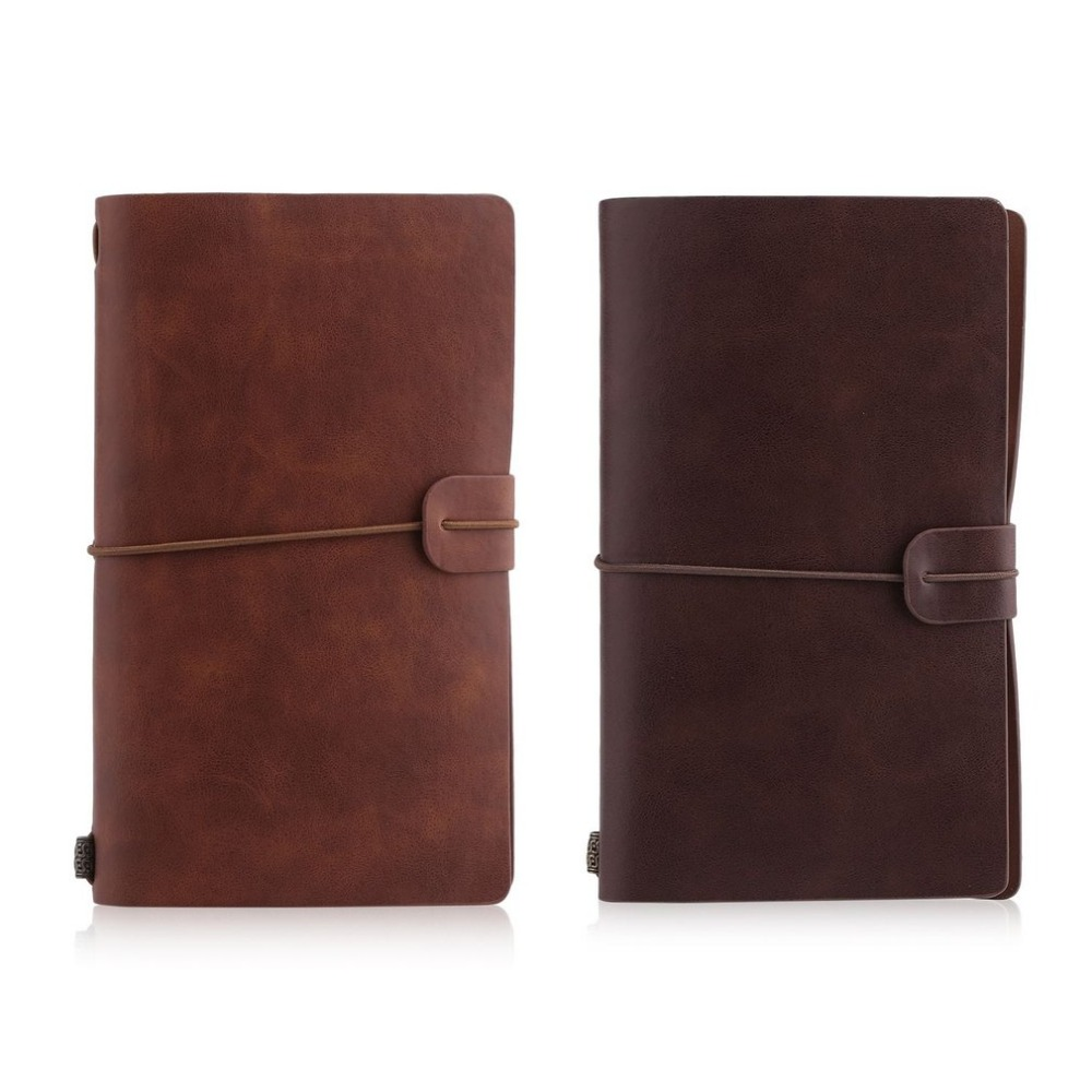 Vintage Hardcover Notebook Spiral Faux Leather Soft Copybook Note Book For Students Business Gift Dairy Notebooks Making Notes