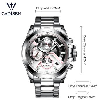 CADISEN Men's Luxury Stainless Steel Waterproof Quartz Watches 2