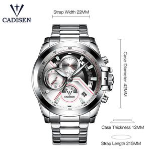 Image 2 - Cadison montre de sport pour hommes, marque de luxe, accessoire militaire, étanche, Quartz, acier inoxydable, tendance décontracté