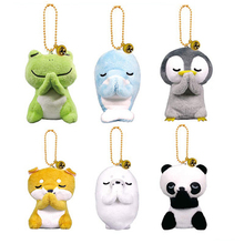 Stuffed Toys Panda Plush Keychain Animals Seal Dolphin Cute Animal Doll For Children