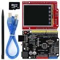 Модуль TFT с ЖК-дисплеем 2,2 дюйма, сенсорный экран + Комплект UNO R3 с usb-кабелем/картой TF/ручкой для Arduino UNO R3/ Mega 2560