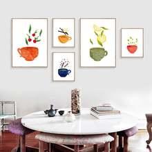 Акварельная картина на холсте печатает фотографии кухонной посуды