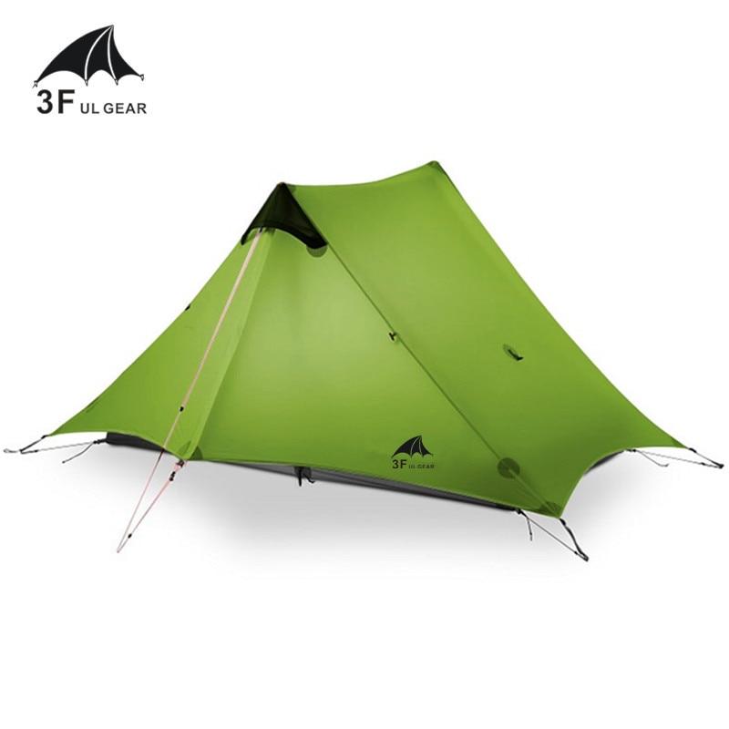 3F UL GEAR 2019 Lanshan 2 Tent 2 Person Oudoor Ultralight Camping Tent 3 Season Professional 15D Silnylon Rodless Tent 4 Season
