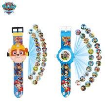 Reloj Digital de juguete de patrulla de patas proyección 24 patrones de dibujos animados reloj de tiempo