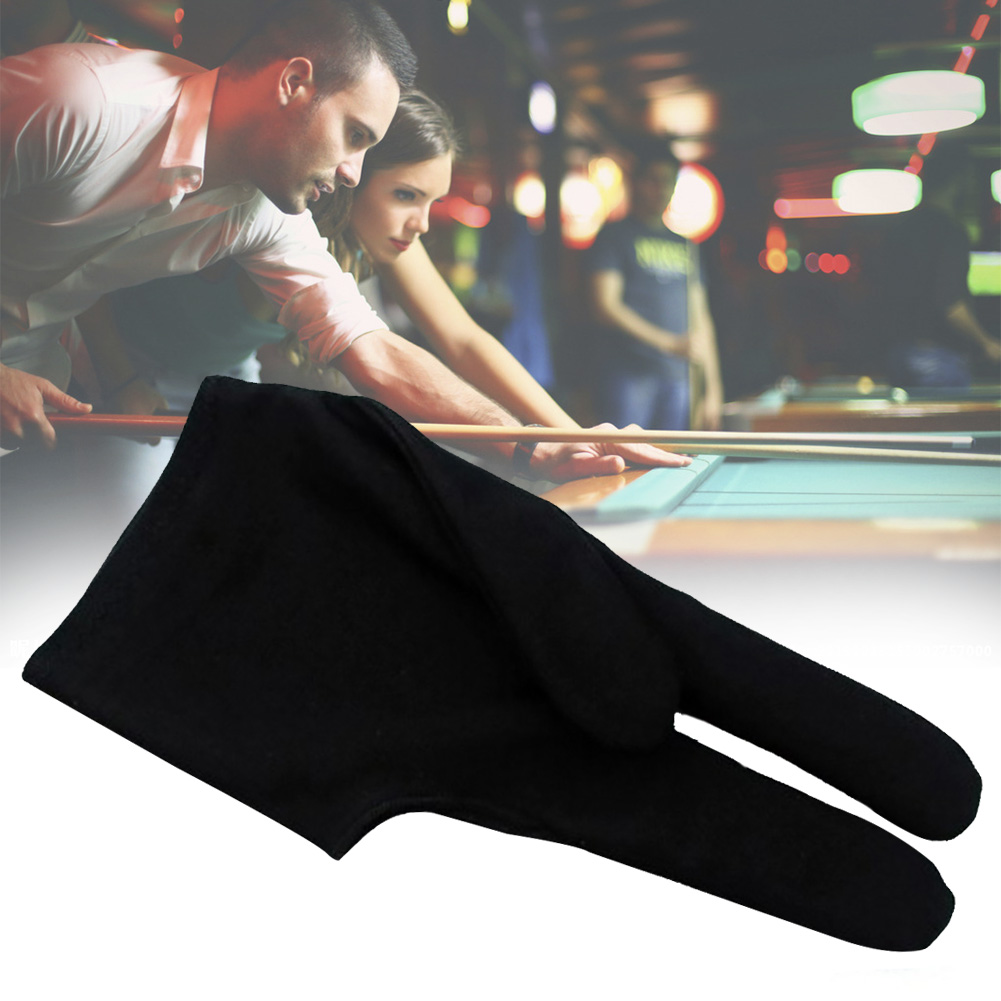 Three Finger Sweat Absorption Pool Snooker Stretchable Bridge Sport Protective Billard Gloves Left Hand Unisex Cue Elastic
