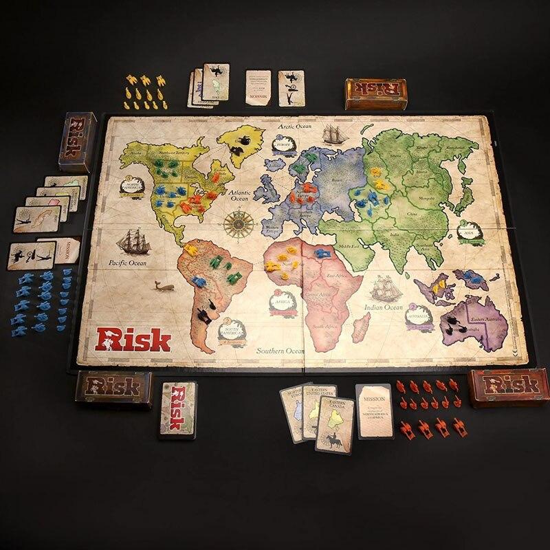 Оригинальная Hasbro риск мировое господство, издание The Game of стратегического Conquest карты; Настольные игры Семья вечерние игрушка для детей и взрослых подарок 4