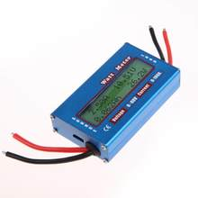 Digital Watt Meter Sederhana LCD DC Power Analyser Watt Volt Amp Meter Energi Saat Ini Meteran Pengukur Amper 12V 24V solar Power Analyzer(China)