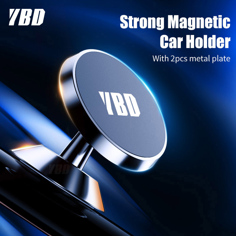 YBD Magnetic Car Phone Holder For IPhone XS X Samsung Magnet Mount Car Holder For Phone In Car Cell Mobile Phone Holder Stand