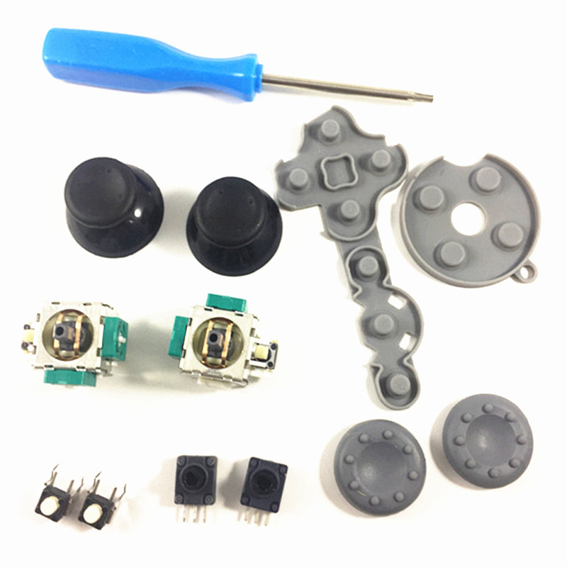 3D Analog Stick Sensor Potentiometer+Thumb Sticks+LT RT Trigger Switch Button For Xbox 360 Controller Repair 13 In 1 Accessories
