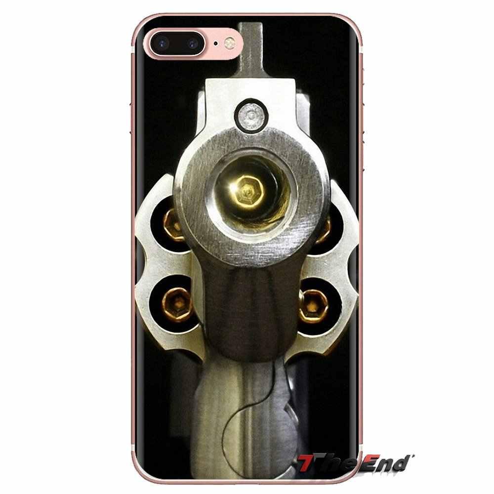 فضفاض الذهب الرصاص بندقية رصاصة ل LG الروح موتورولا موتو X4 E4 E5 G5 G5S G6 Z Z2 Z3 G2 g3 C تلعب زائد البسيطة غطاء هاتف بولي يوريثان حراري ناعم