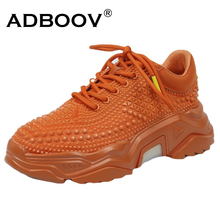 ADBOOV New Rivets Chunky Sneakers Women Fashion Street Casual