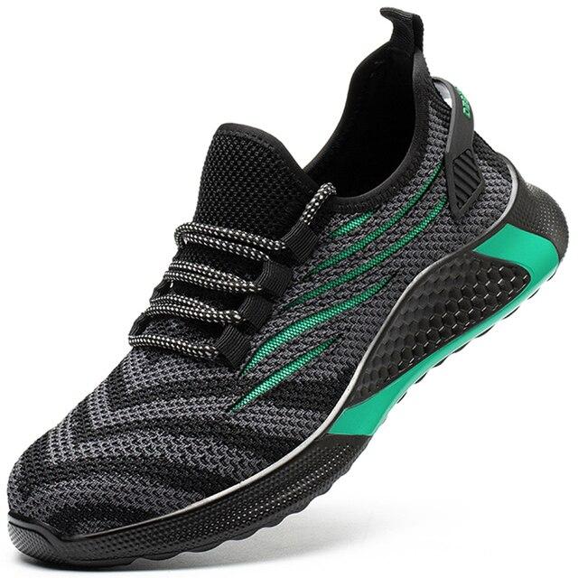 Homens sapatos de segurança de trabalho anti-punctura tênis de trabalho indestrutível masculino sapatos de trabalho homens botas de segurança de pouco peso 4