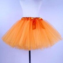 Tutu Girl Skirt Toddler Kids Costume Tulle Dance Orange Party Baby Princess Children