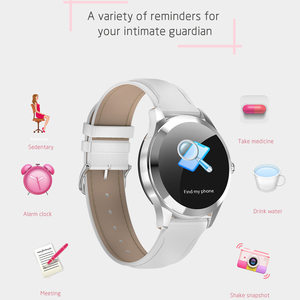 Image 5 - KW10 KW20 Smart Watch Women IP68 Waterproof Wristwatch Heart Rate Monitoring Bluetooth Sport Fitness Bracelet For Android IOS