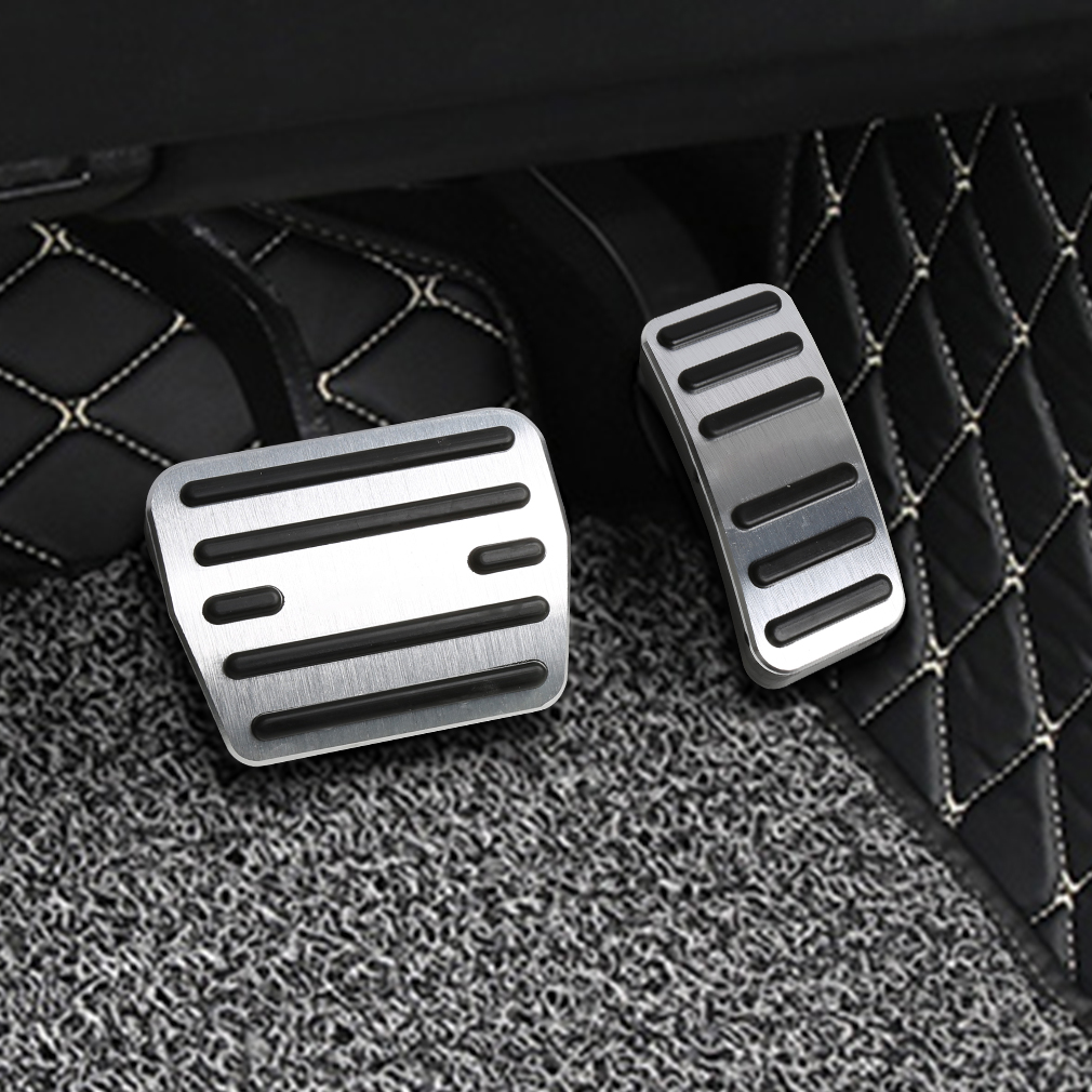 For <font><b>Audi</b></font> <font><b>A3</b></font> stainless steel <font><b>pedal</b></font> cover set car rest modified kit foot rest non slipstyling gas pad image