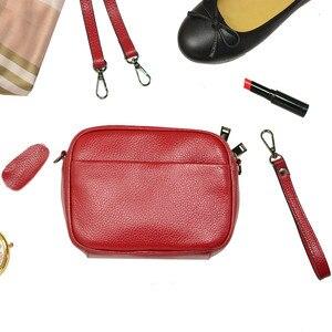 Image 2 - مصمم امرأة حقيبة يد جلدية صغيرة فاخرة حقيبة كتف عبر الجسم موضة حقيبة ساع المرأة جلد طبيعي أسود حقيبة يد